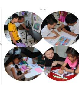 银枫项目喜迎六一儿童节,人人争当小画家